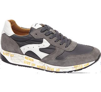 AM shoe Premium - Grijze leren sneaker