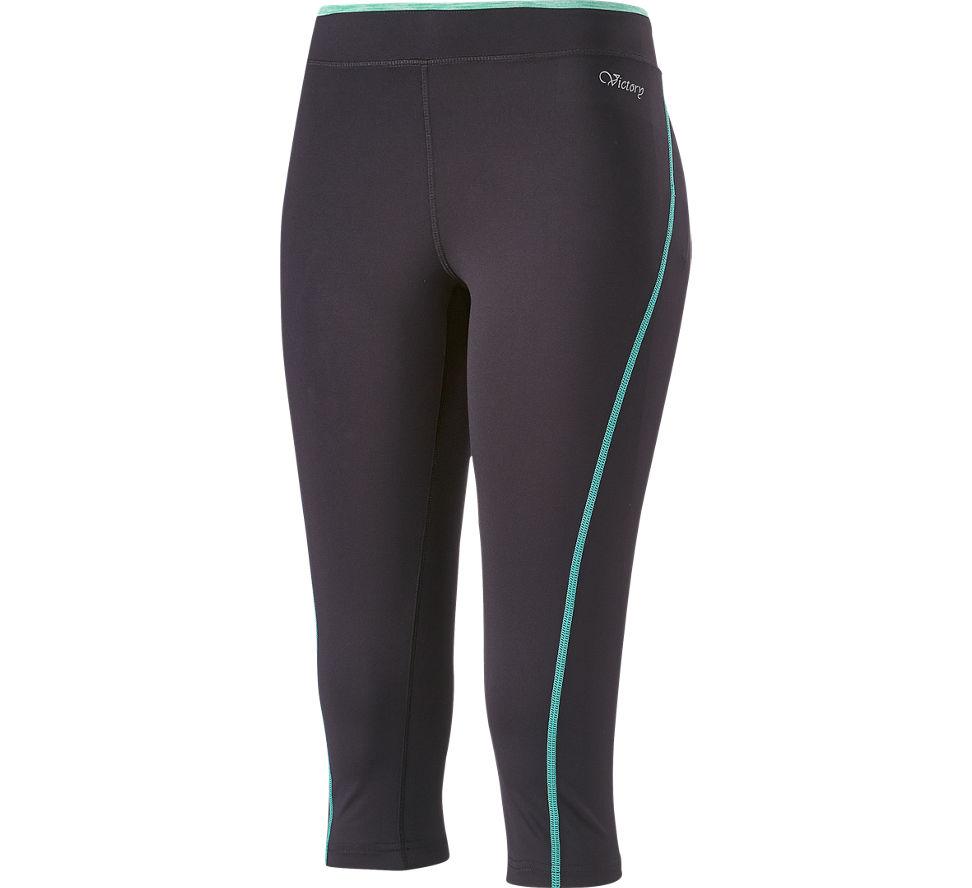 2 Way pantalon d´entraînement 3/4 femmes noir 6634075