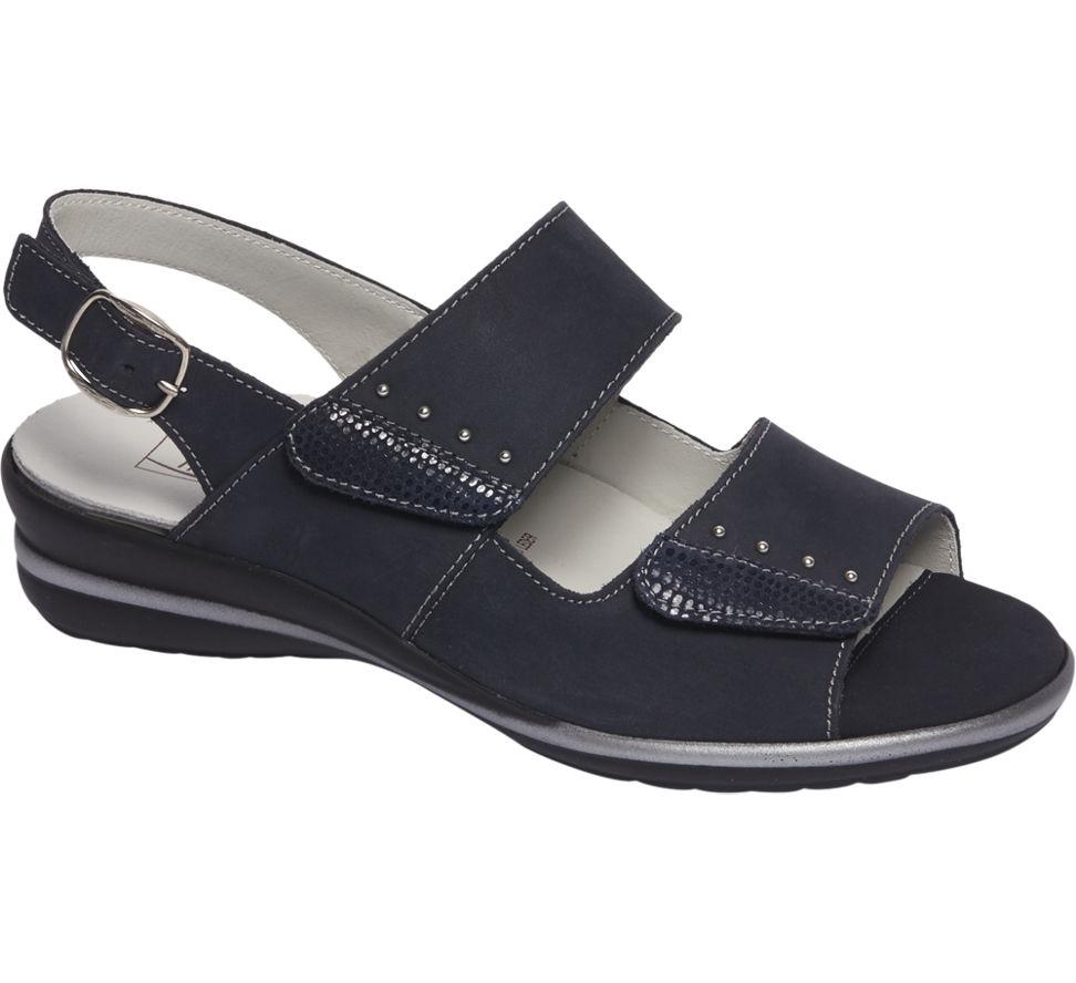 damen leder komfort sandaletten von medicus in ozeanblau. Black Bedroom Furniture Sets. Home Design Ideas
