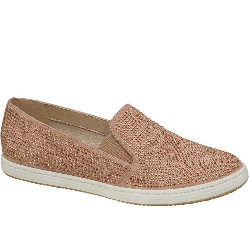 damen slip on sneakers von graceland in pink. Black Bedroom Furniture Sets. Home Design Ideas
