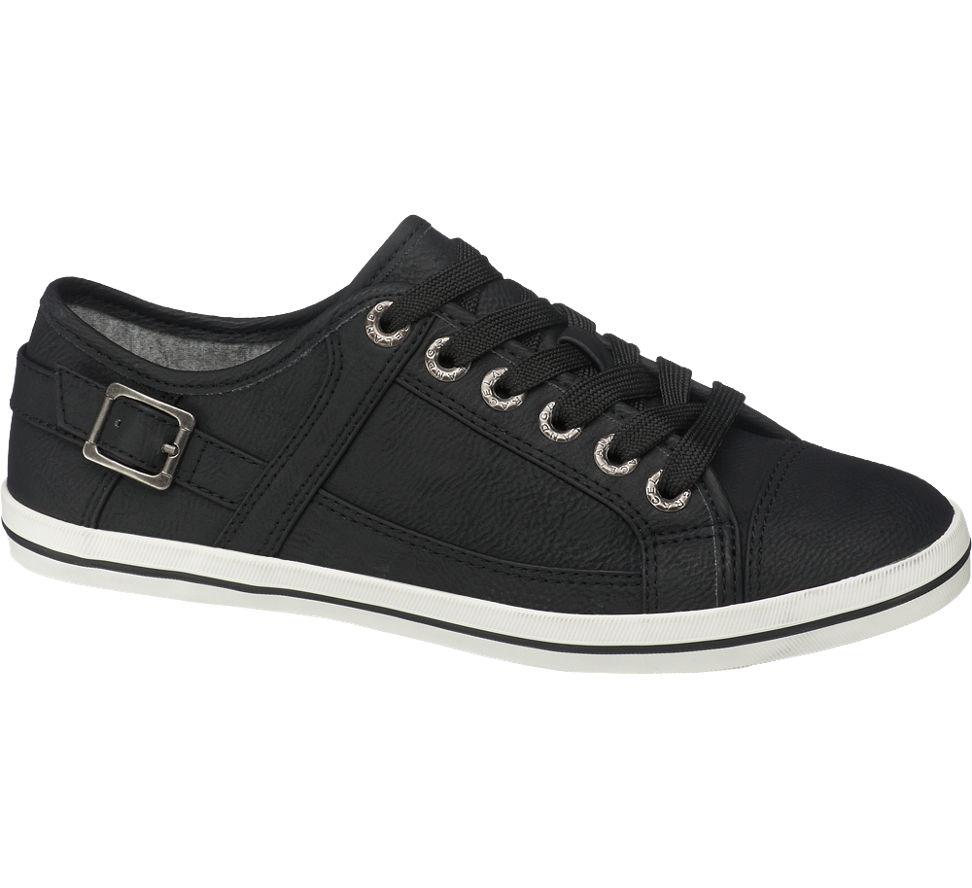 damen sneakers von graceland in schwarz. Black Bedroom Furniture Sets. Home Design Ideas