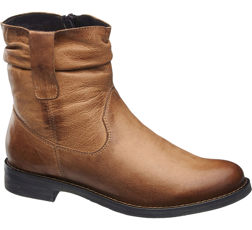 leather ankle boots in brown deichmann