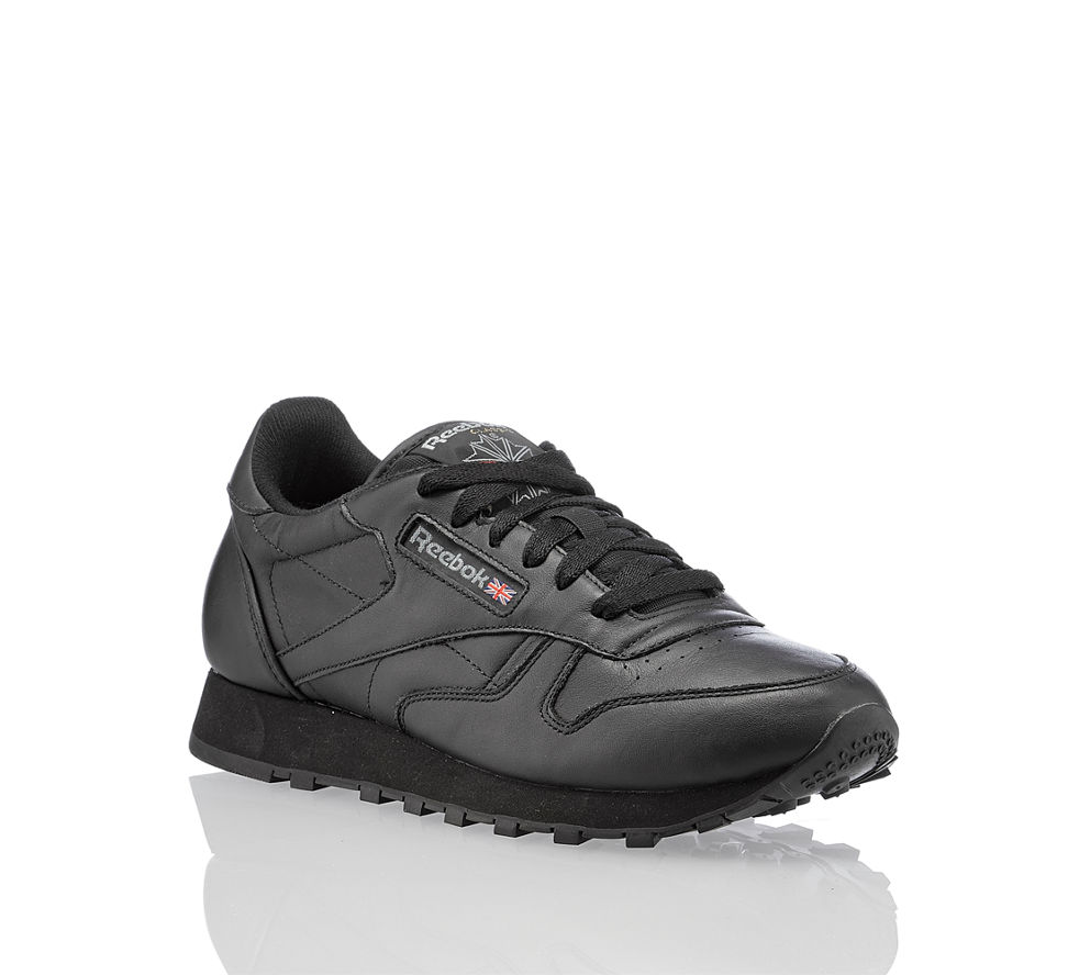 reebok classic leather damen sneaker in schwarz von reebok. Black Bedroom Furniture Sets. Home Design Ideas