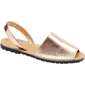 Zlato-růžové kožené sandály 5th Avenue