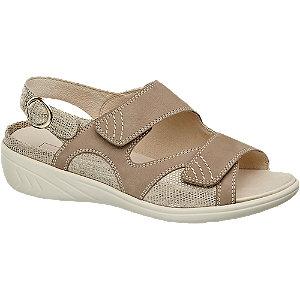 Sandália conforto pele