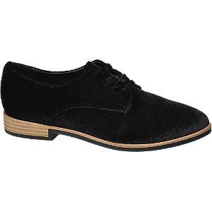 Sapatos estilo Oxford em camurça
