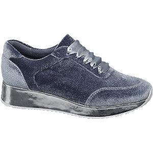 Graceland Grijze velvet sneaker
