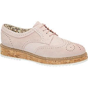 Sapato estilo Oxford pele