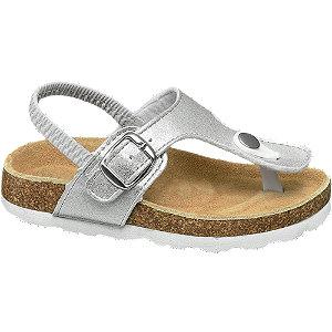 Cupcake Couture Zilveren sandaal leren voetbed