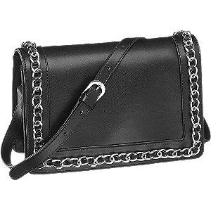 czarna torebka damska Graceland ozdobiona łańcuszkiem