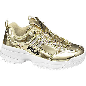 Aranyszínű fashion sneaker