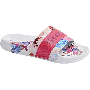 Badeschuhe in Multicolor mit Print-On