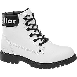 Biela šnurovacia obuv Tom Tailor