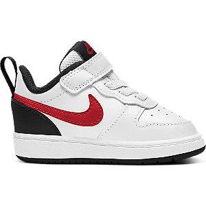 Biele detské tenisky na suchý zips Nike Court Borough Low 2