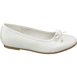Biele dievčenské balerínky Graceland