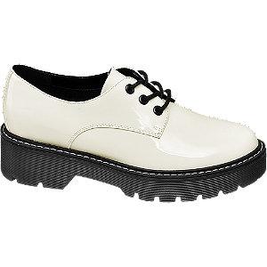 Biele lakované poltopánky Catwalk