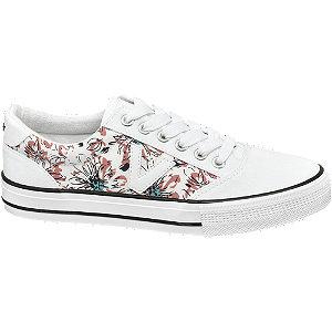 Biele plátenné tenisky Vty s kvetinovým vzorom