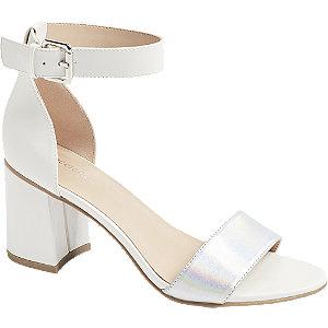 Biele sandále na podpätku Graceland