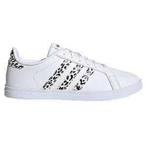 Biele tenisky Adidas Courtpoint X so zvieracím vzorom
