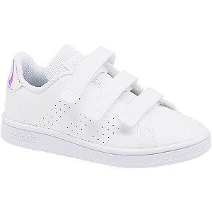 Biele tenisky na suchý zips Adidas Advantage C
