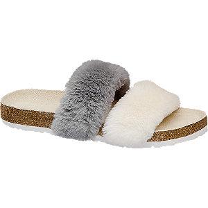 Bielo-sivé šľapky Graceland