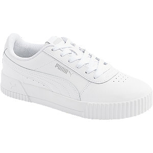 Bílé kožené tenisky Puma Carina