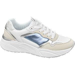 Bílo-šedé chunky tenisky Graceland