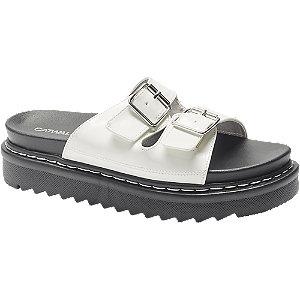 Bílo-černé pantofle Catwalk