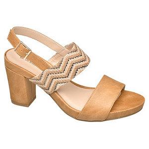 Béžové sandále na podpätku Catwalk