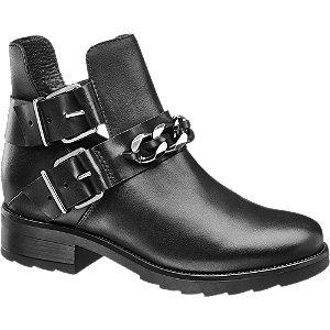 Leder Boots mit Schnallen
