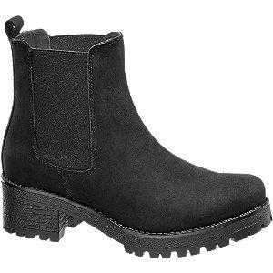 Leder Chelsea Boots mit Plateau