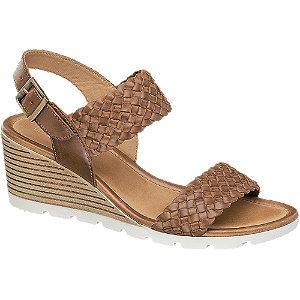 Leder Keil Sandaletten