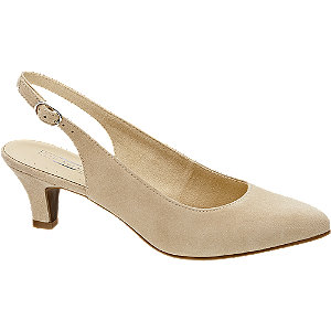 Leder Sling Pumps