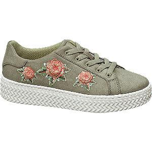 Plateau Sneakers mit Blumen-Design