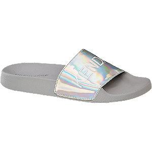 Ezüst hologramos papucs