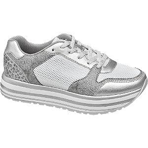 Ezüst rétegelt talpú sneaker