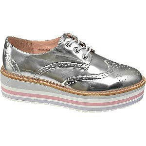Ezüst színű platform dandy