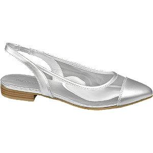 Ezüst színű szling balerina