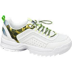 Fehér hüllőmintás fashion sneaker