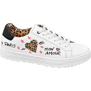 Fehér állatmintás sneaker