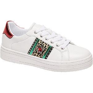 Fehér mintás sneaker