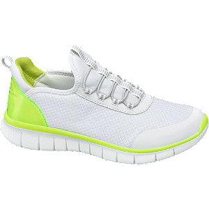 Fehér női sportcipő neon betéttel