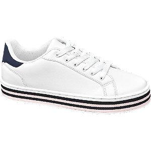 Fehér platform sneaker