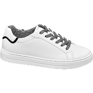 Fehér sneaker mintás fűzővel
