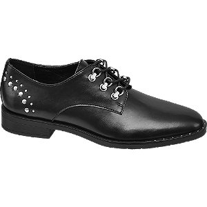 Fekete női dandy cipő