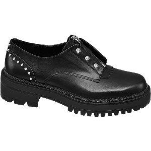 Fekete szegecses bokacipő