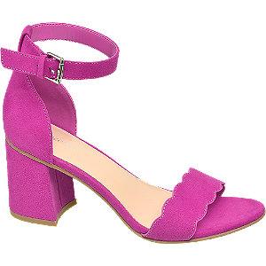 Fuksiové sandále na podpätku Graceland