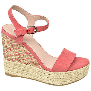 Keil Sandaletten in Pink