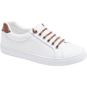 Leinen Slip On Sneaker in Weiß