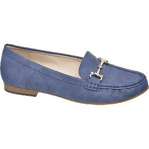 Loafer in Blau mit Velours-Optik